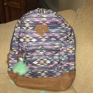 Handbags - 💜NWT Purple, Pink, Green Fabric/Leather Backpack